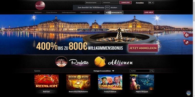 Bordeaux Casino Bonus Code