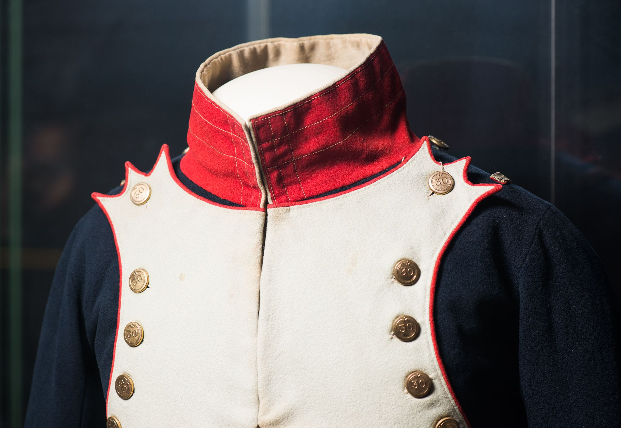 Coat of officer of the 30th  Line Infantry regiment. France. 1808-1810.