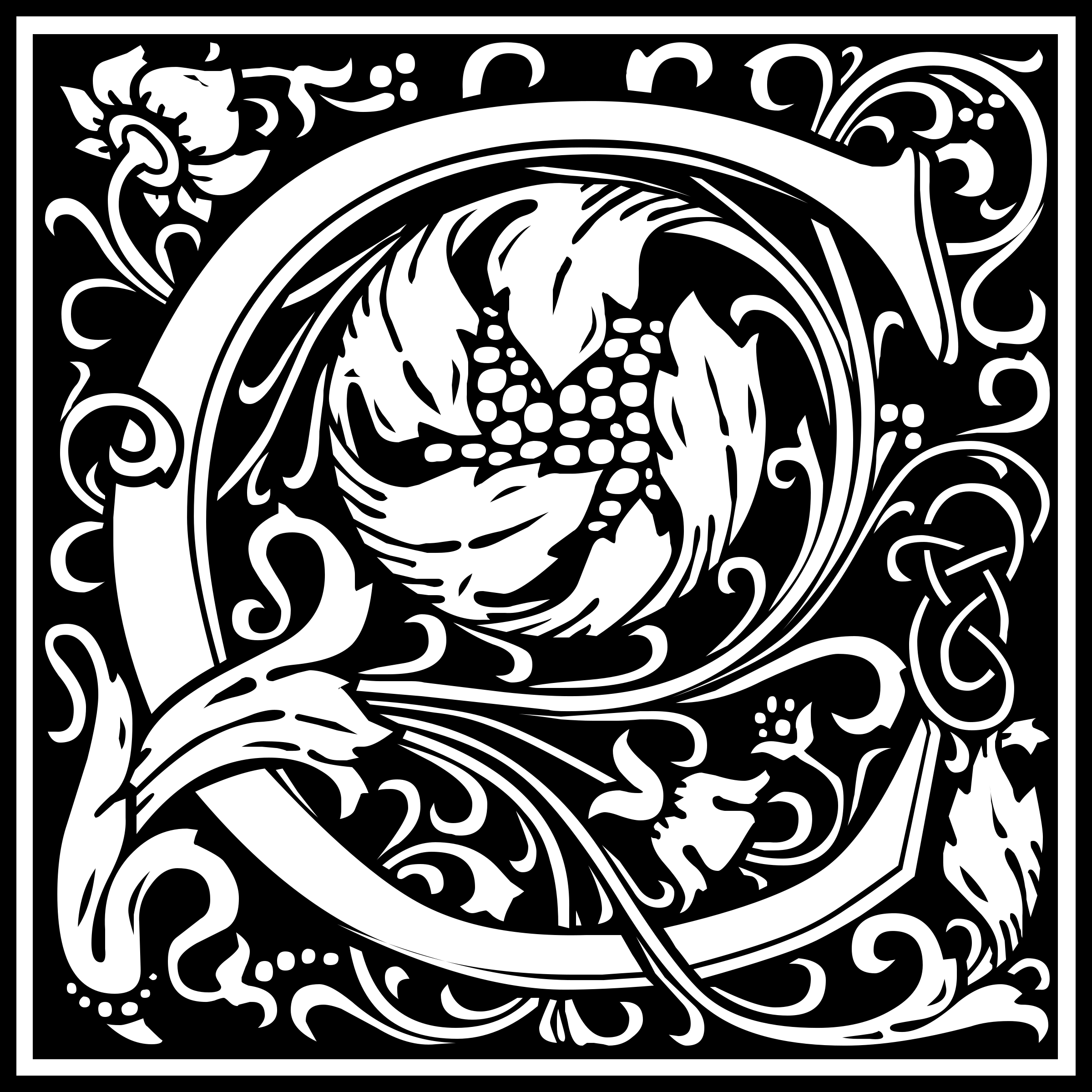 Clipart - William Morris Letter C