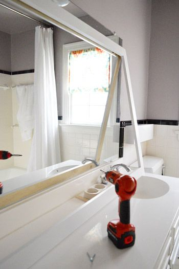 How To Build A Wood Frame Around Bathroom Mirror