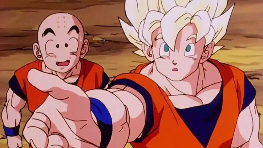 Goku Meets Android 16 Dragon Ball Dragon Ball Z Anime