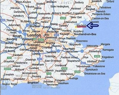 map of southeast coast of england google search