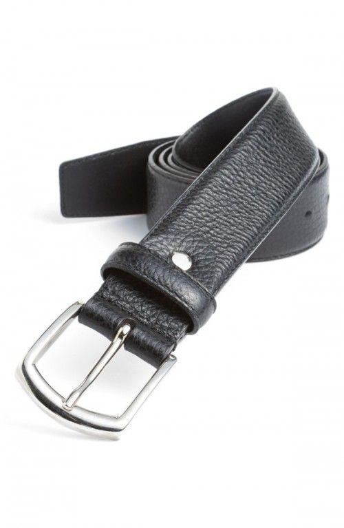 Canali Leather Belt Black 30 | Accessory