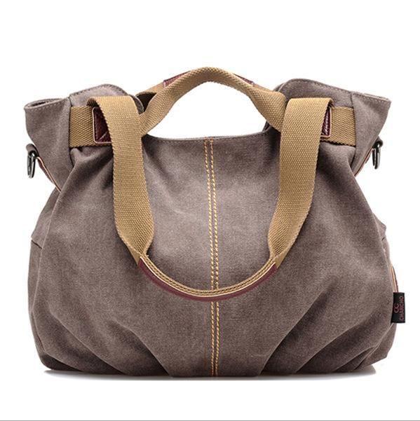 Womens Designer Canvas Tote Handbag