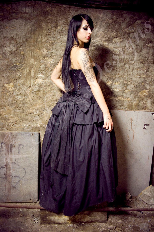 Steampunk wedding dresses  Steampunk Alternative Wedding Dress  Black Kirsten  Gothic Vampire