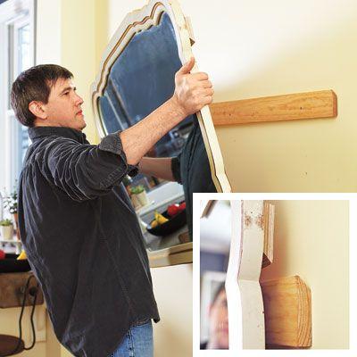 25 Diy Fundamentals Home Repair Home Diy Hanging Heavy Mirror