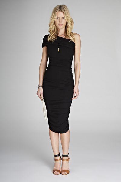 5b0cd903ba9 Isabella Oliver Ruched One Shoulder Dress - Ella Bella Maternity Boutique