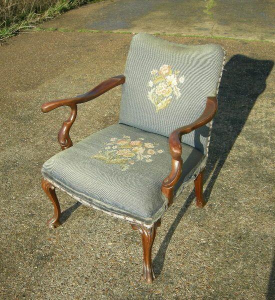 Antique Armchair   Mid 19th Century Georgian Design Mahogany Gainsboroughu2026