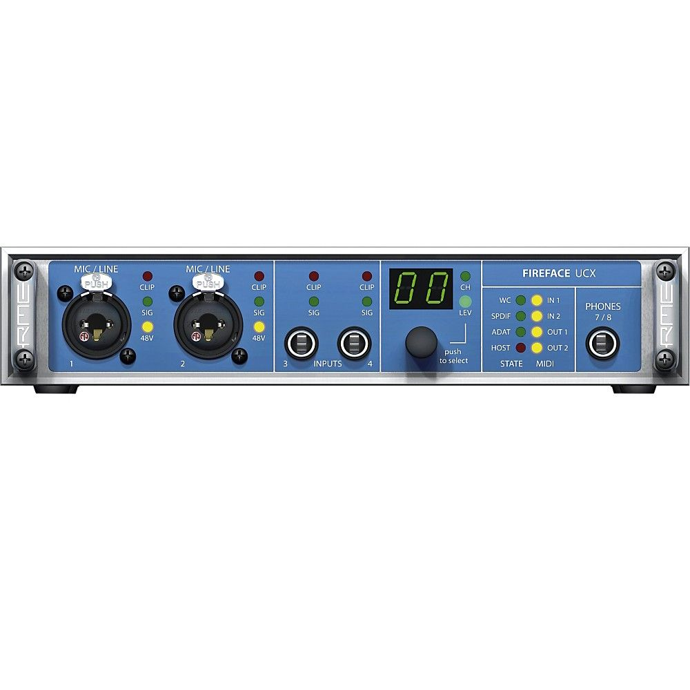 Rme Fireface Ucx 36 Channel Usb 2 0 Audio Interface Audio