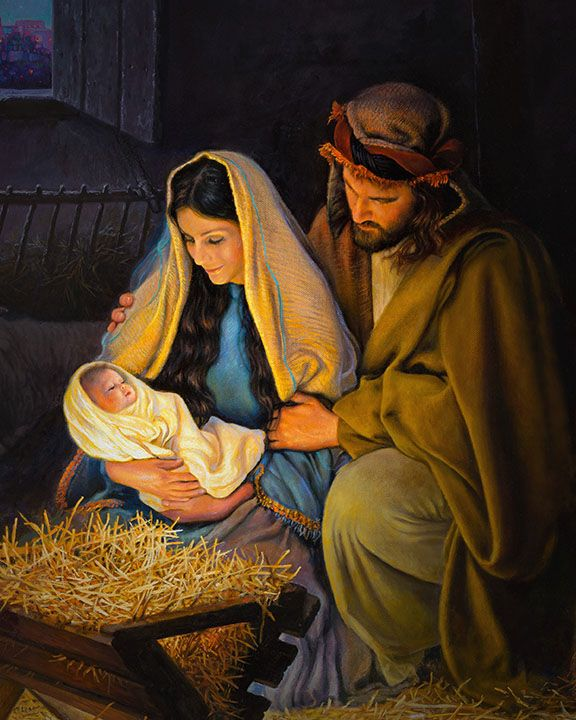 The Holy Family | Greg Olsen | Nativity scene pictures, Nativity painting,  Holy family