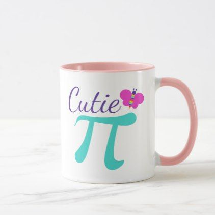 Cutie Pi Symbol Math Pun Mug Home Gifts Ideas Decor Special Unique