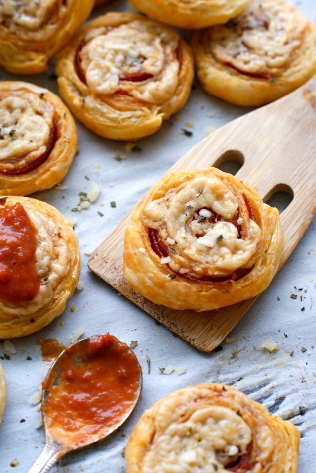 and Asiago Pizza Pinwheels,  Pepperoni and Asiago Pizza Pinwheels, Pepperoni and Asiago Pizza Pinwheels,