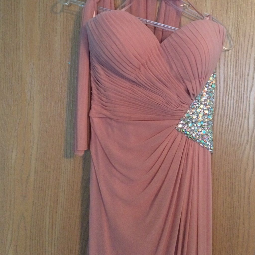 Light pink long prom dress products