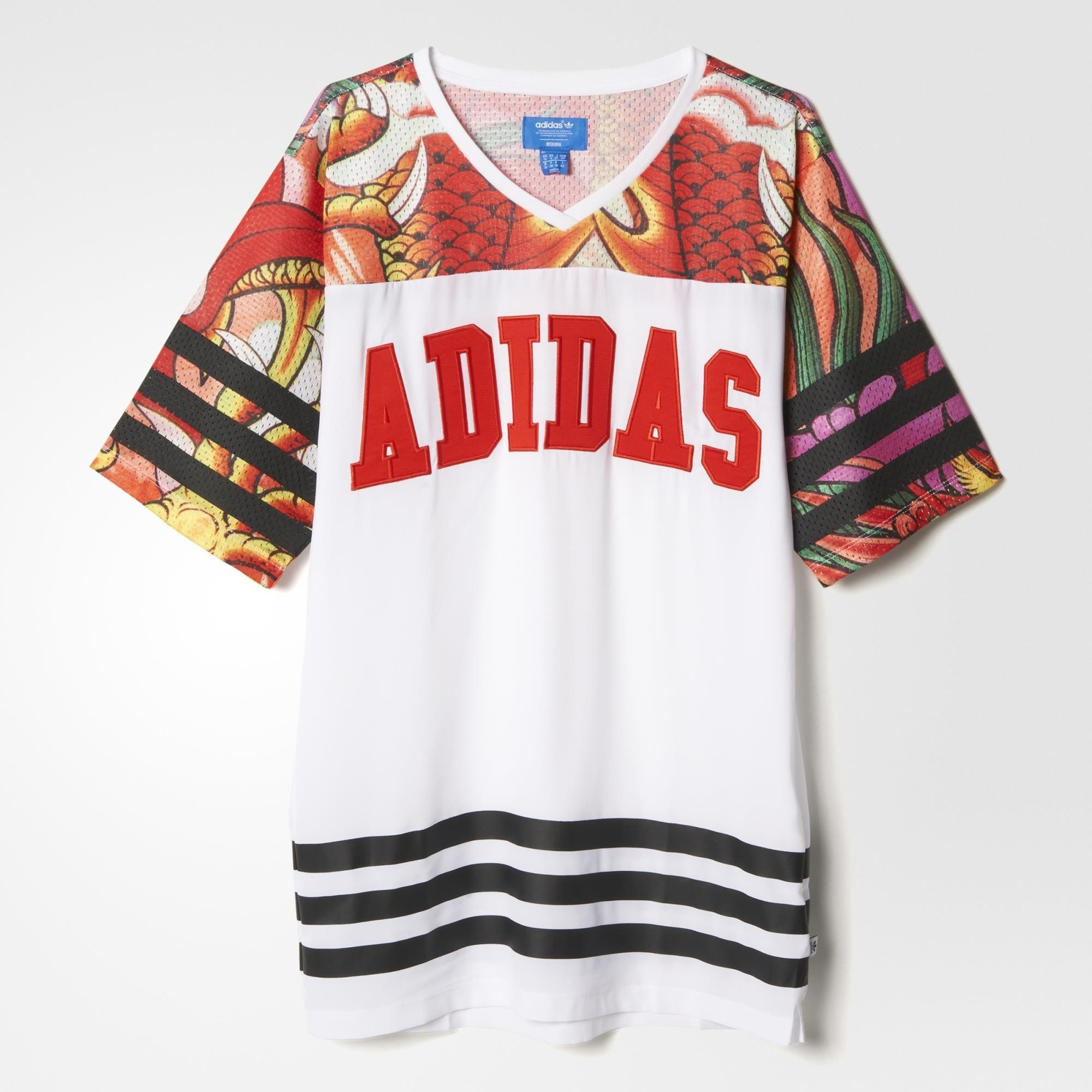 Adidas Dragon Print Tee Dress Adidas Asia Middle East Adidas Vrouwen Mode Bedrukt T Shirt [ 2000 x 2000 Pixel ]