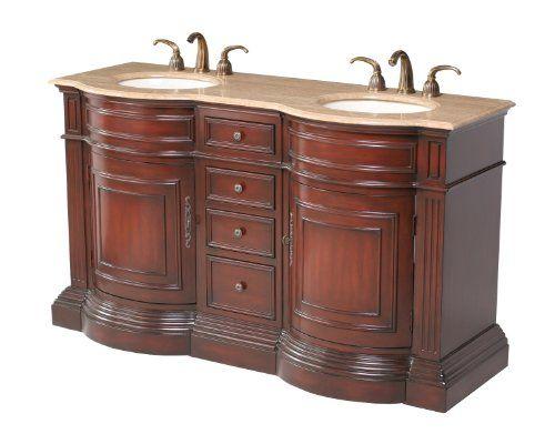 Double Sink Vanity, 62 Inch Double Sink Bathroom Vanity Set