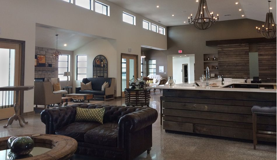 Rustic Elegance Underscores Carter And Todd Oosterhouse S Trendsetting Winery Boo Designed By Kim Of Cedar Creek Interiors