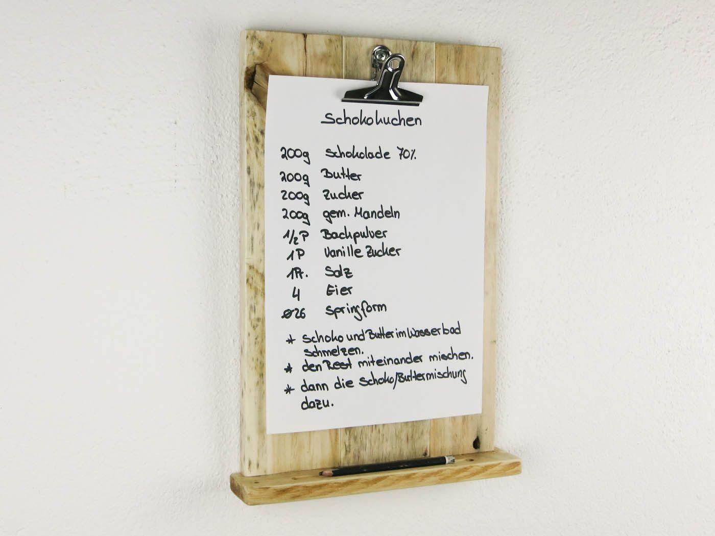 Handgemacht aus alten Paletten! Klemmbrett zum Aufhängen für Deine Küche. Ein Unikat aus dem Kellerherz DIY Blog-Shop Dings.