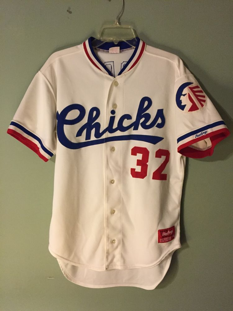 1992 memphis chicks minor southern league baseball game used jersey from   125.0 0a7c7c3c7890