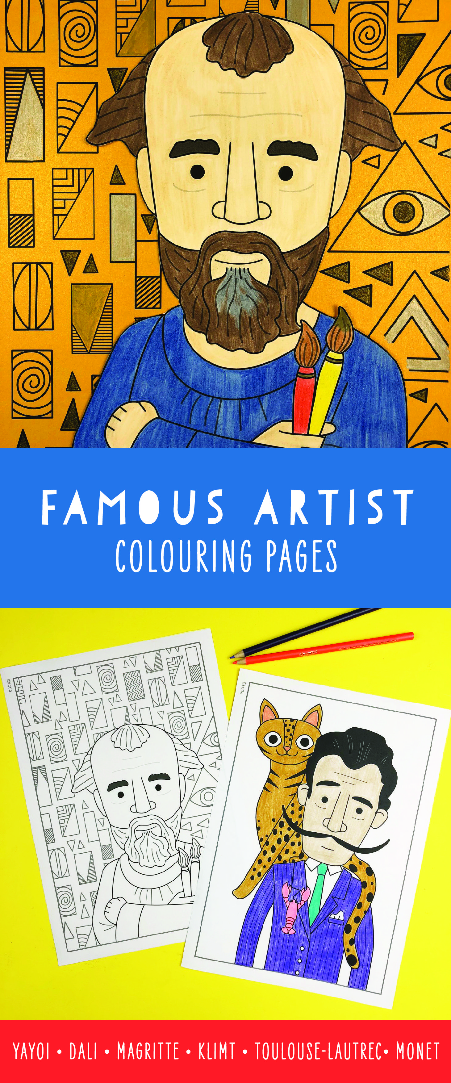 Photo of Famous artist coloring pages for kids
