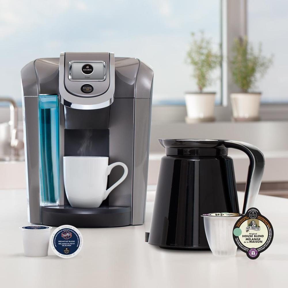 Keurig 20 k500 coffee brewing system with carafe single