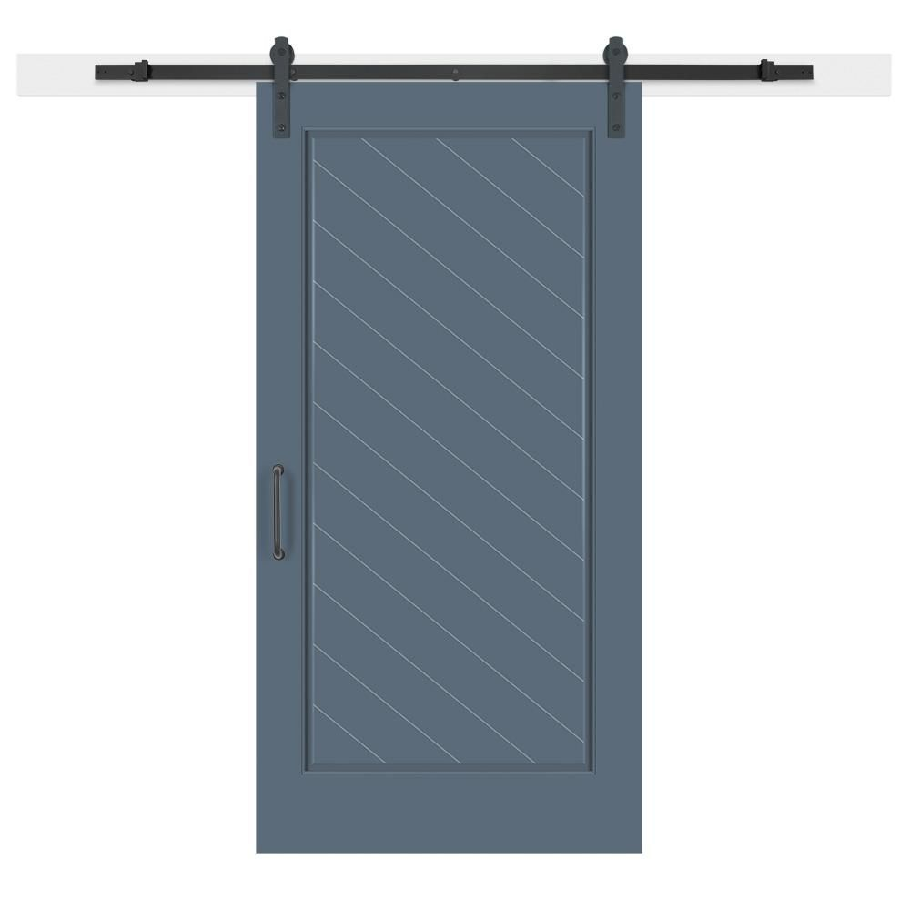 Jeff Lewis 42 In X 84 In Pacific Composite 1 Panel Herringbone Solid Core Mdf Barn Door With Barn Doors Sliding Sliding Door Hardware Sliding Doors Interior