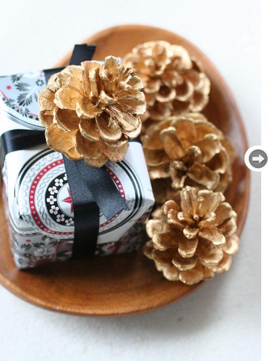 Gold pinecone