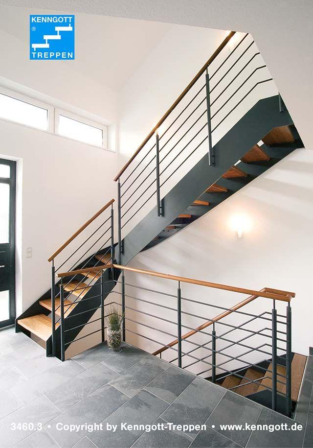 Wangentreppe ATHEN Stufen Buche Massiv Stufenmaterial MC Massivholz Gelndertyp 310 Mit Holzhandlauf