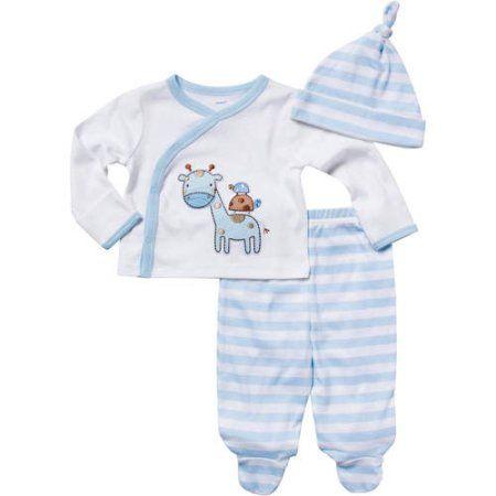 9c6038b3b3d1c Gerber Newborn Baby Boy Giraffe Take Me Home Set, Size: 0 - 3 Months, Blue