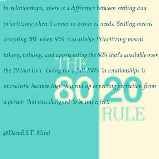 80 20 rule relationships