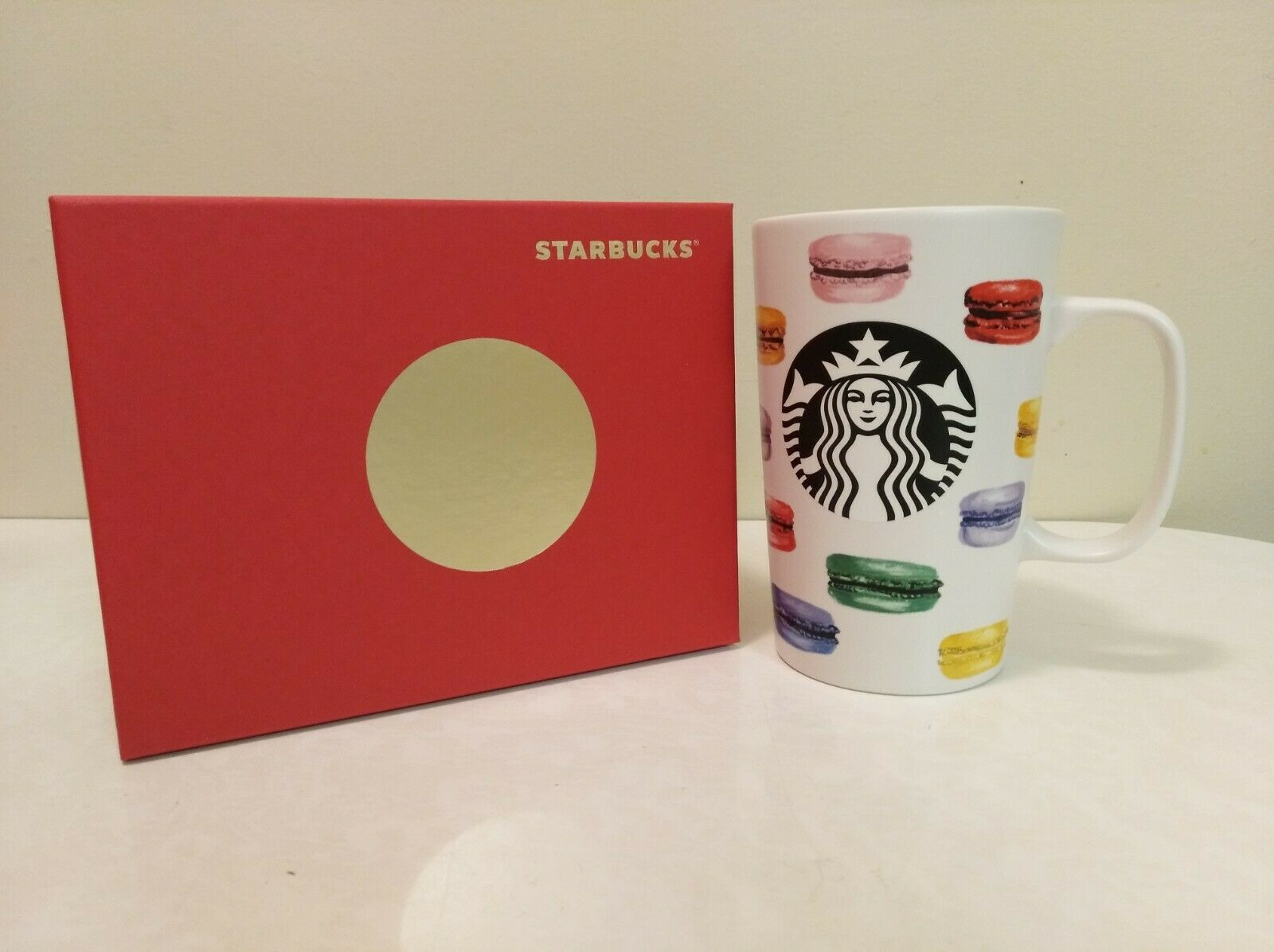 STARBUCKS Coffee Cup 2015 Dot Collection French Macarons