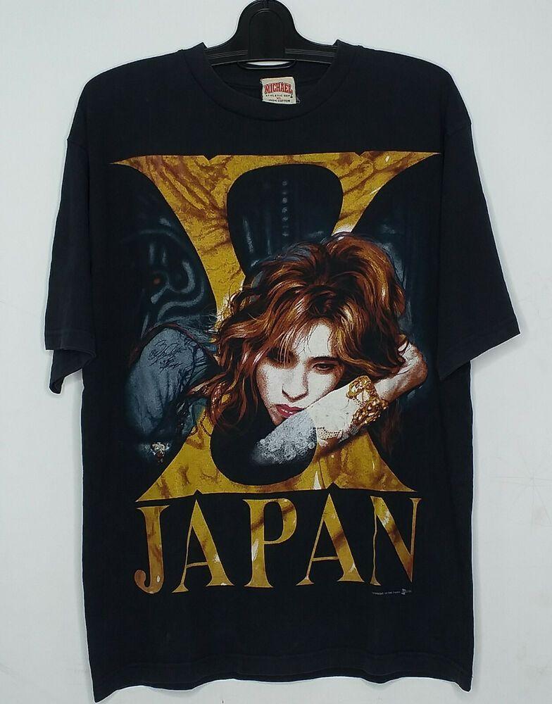 Vintage 90s X Japan Yoshiki Not Hide Japanese Art Metal Rare Xl T Shirt Michael Graphictee Xjapan Yoshiki Hide Xjapanhide Vi Japan Japanese Men T Shirt
