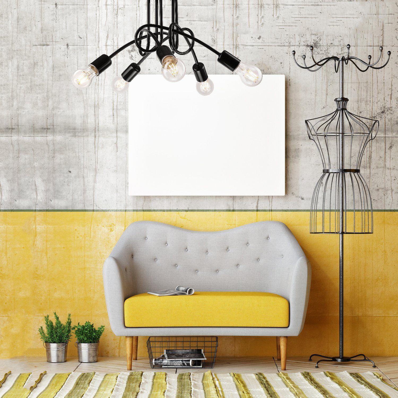 Pendel-Leuchte Decken-Leuchte aus metall E27 Hänge-Leuchte (Farbe ...