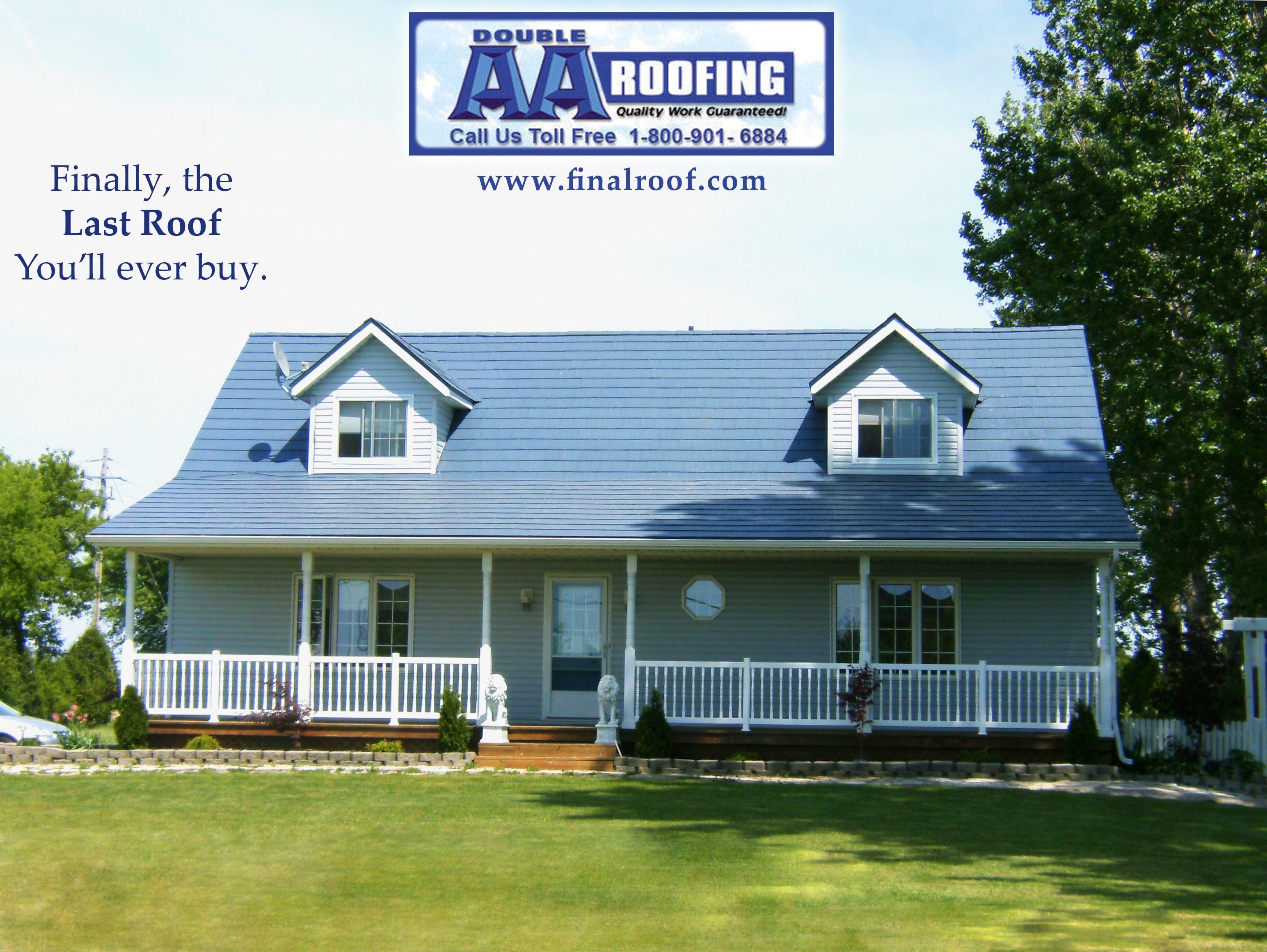 Residential Metal Roofing In Harrow Ontario By Double Aa Roofing House Roof Residential Metal Roofing Metal Roof