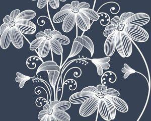 Seamless floral background Vector illustration