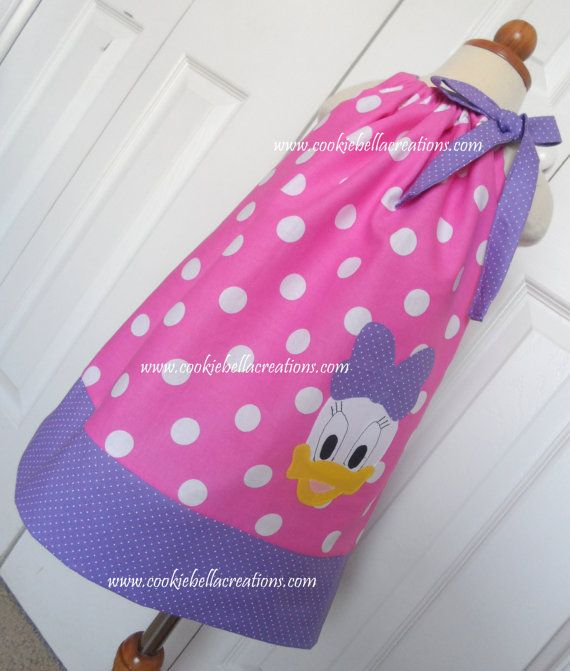 Polka Dot Pillowcases Beauteous Daisy Duck Inspired Pinkpurple Polka Dot Pillowcase Dressperfect Design Decoration