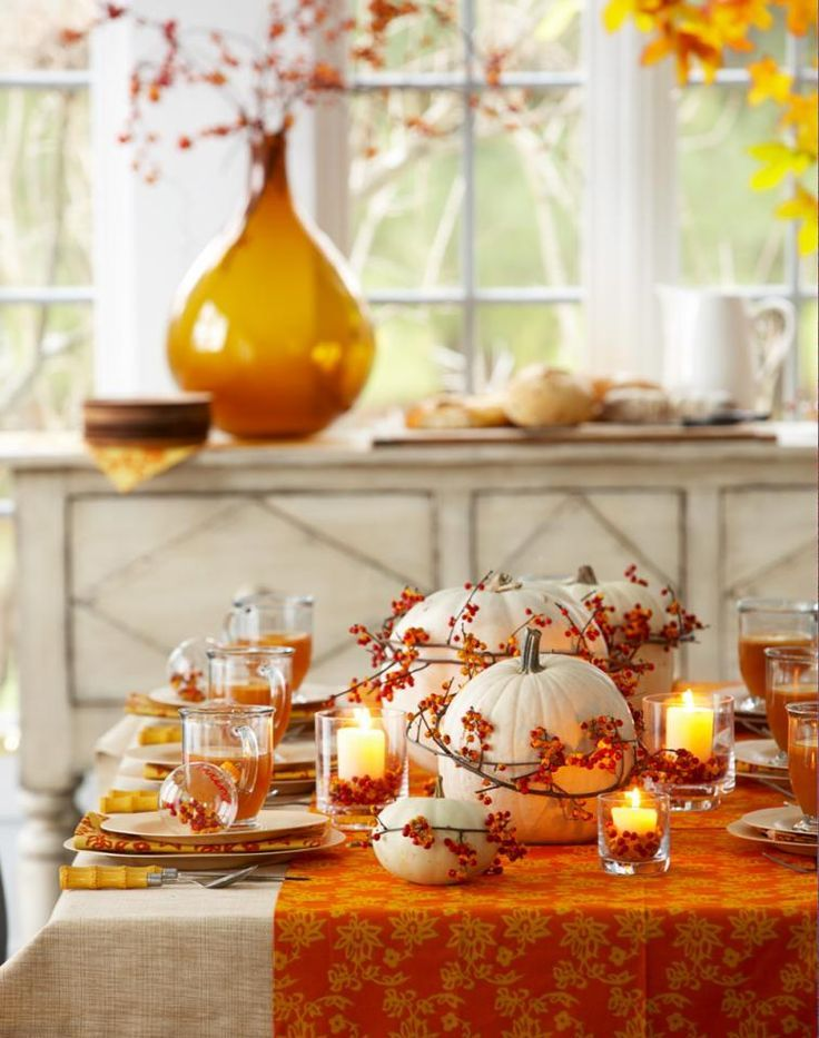 Ideas For Beautiful Fall Table Decorations Fall Table - Colorfulfall table decoration halloween party decorations thanksgiving table centerpieces