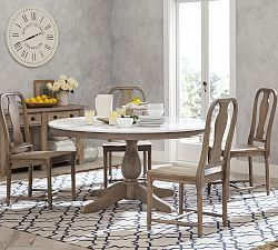 Linden Pedestal Dining Table Pottery Barn Marble