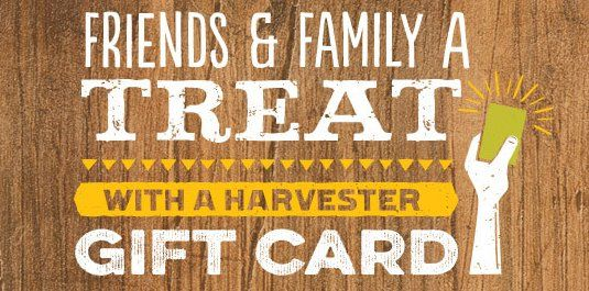 Win $5000 in Harvester restaurant gift cards! Enter the survey and tell about your experience!    One survey completion or mail-in entry and one entry by the Sponsor's GoRecommend app per day. Enter the store number found on your Invitation and complete...