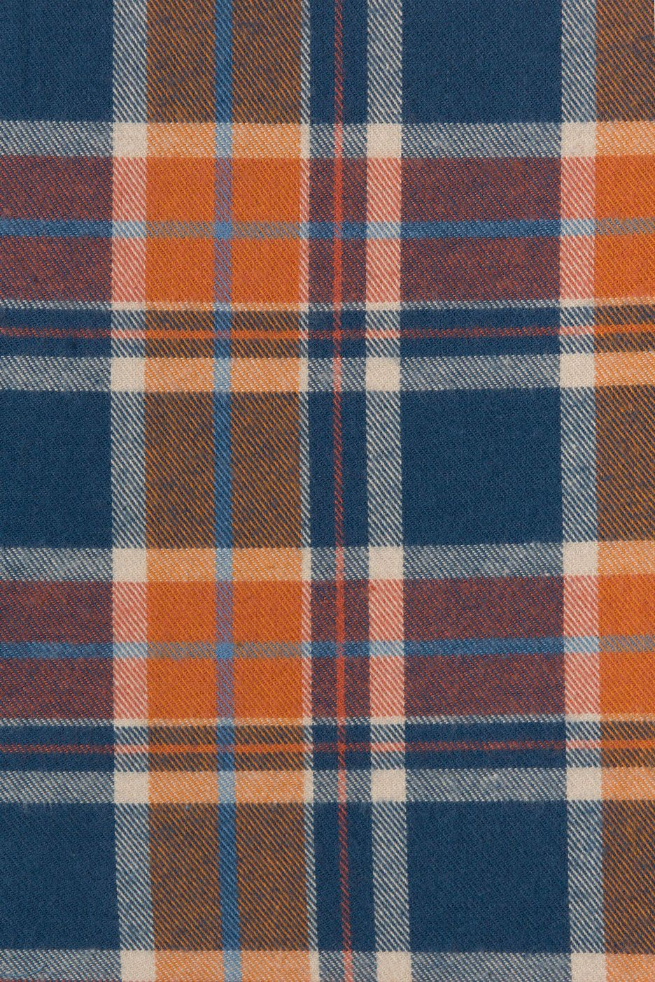 Rodeo Cotton Flannel Orange Plaid Fabric #fallwallpaperiphone