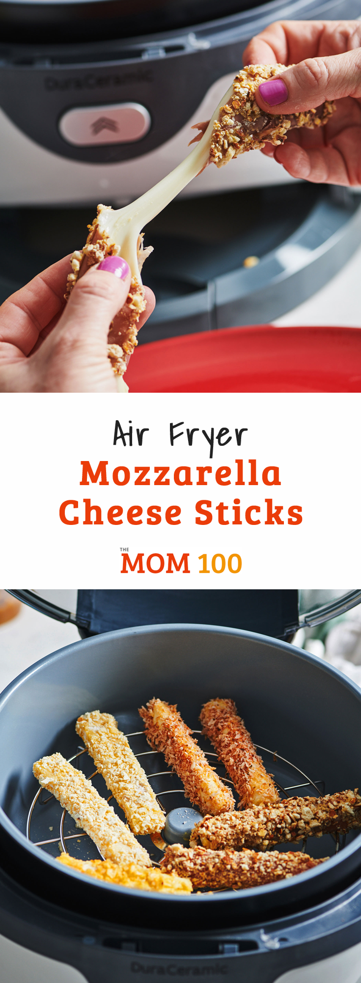 Air Fryer Mozzarella Cheese Sticks Recipe WW recipes
