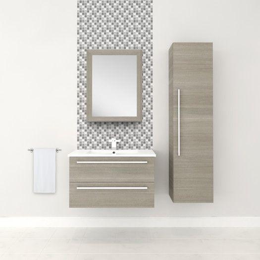 "Cutler Kitchen & Bath Silhouette 30"" Wall Hung Vanity Set   AllModern"