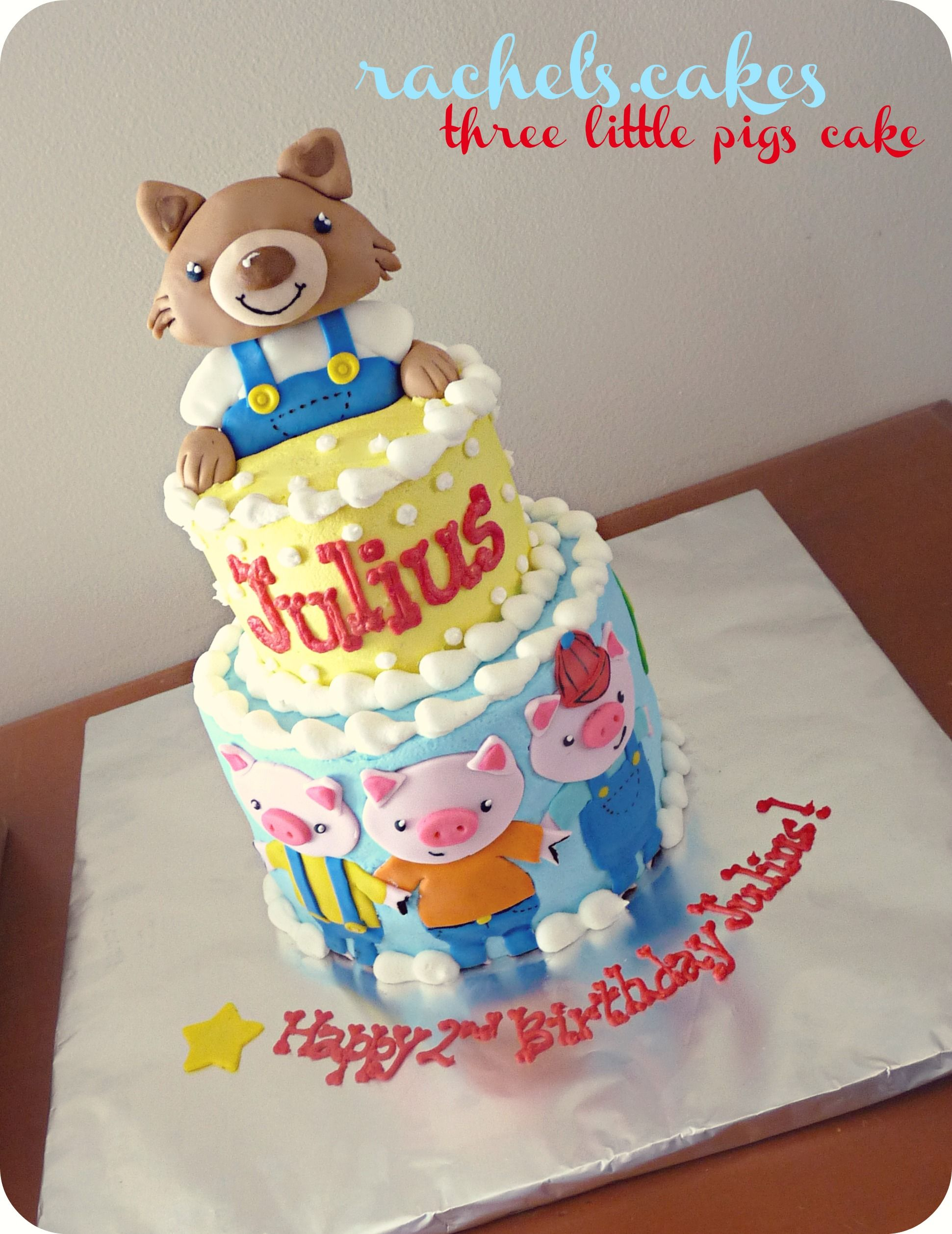 3 Little Pigs Storybook Theme Cake Big Bad Wolf My Own