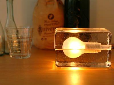 Block Lamp By Harri Koskinen Fancy Com Cube Lamps Crystal Table Lamps Lamp