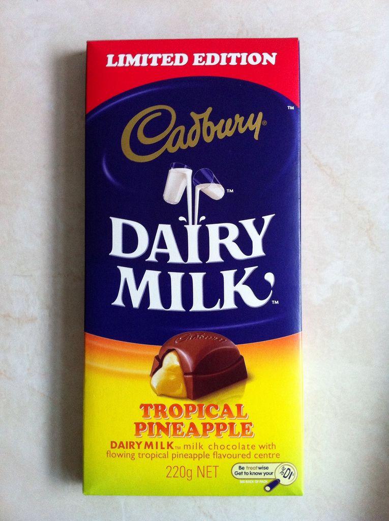 Cadbury tropical pineapplewoot cadbury cadbury