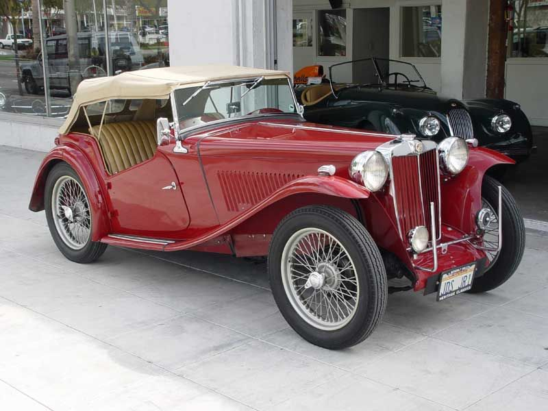 1948 Mg Tc British Sports Car With Images Classic Cars Mg