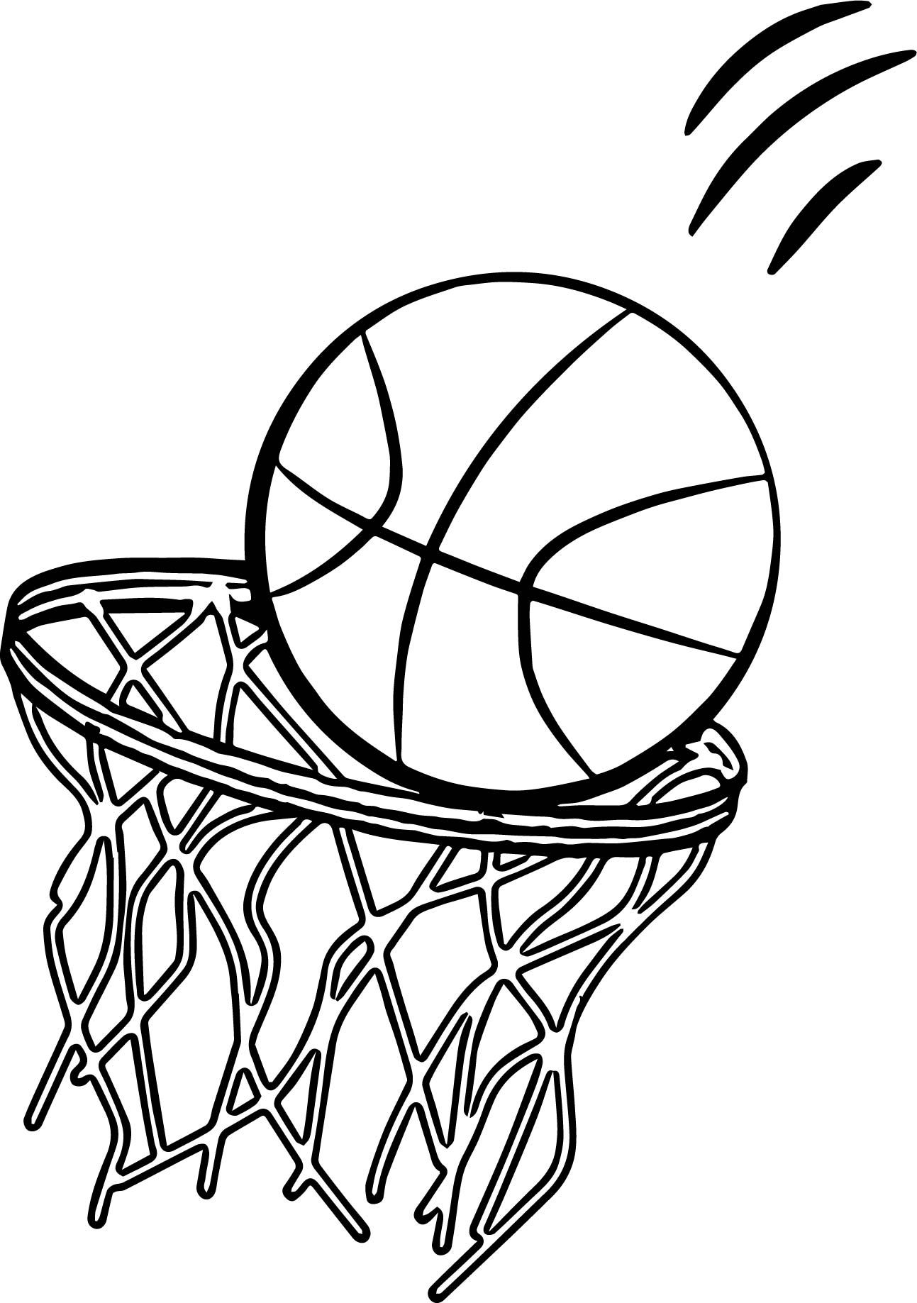 Awesome Going Basketball Ball Playing Basketball Coloring Page Basketball Drawings Basketball Ball Sports Coloring Pages