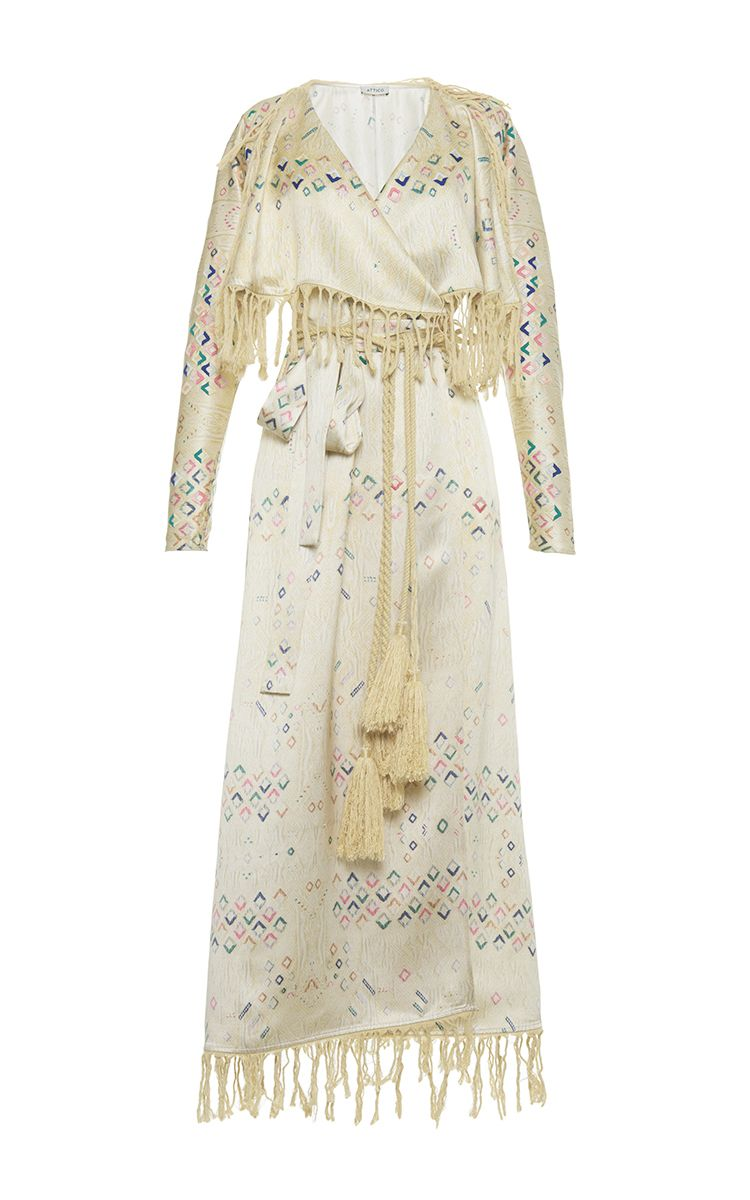 Ali silk satin long dressing gown by Attico | Playing Dress-Up ...