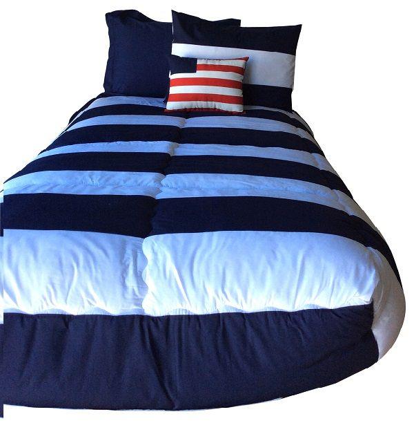 Hayden Navy Bunk Bed Hugger Striped Bedding For Bunks Bunk Beds Bed Striped Bedding