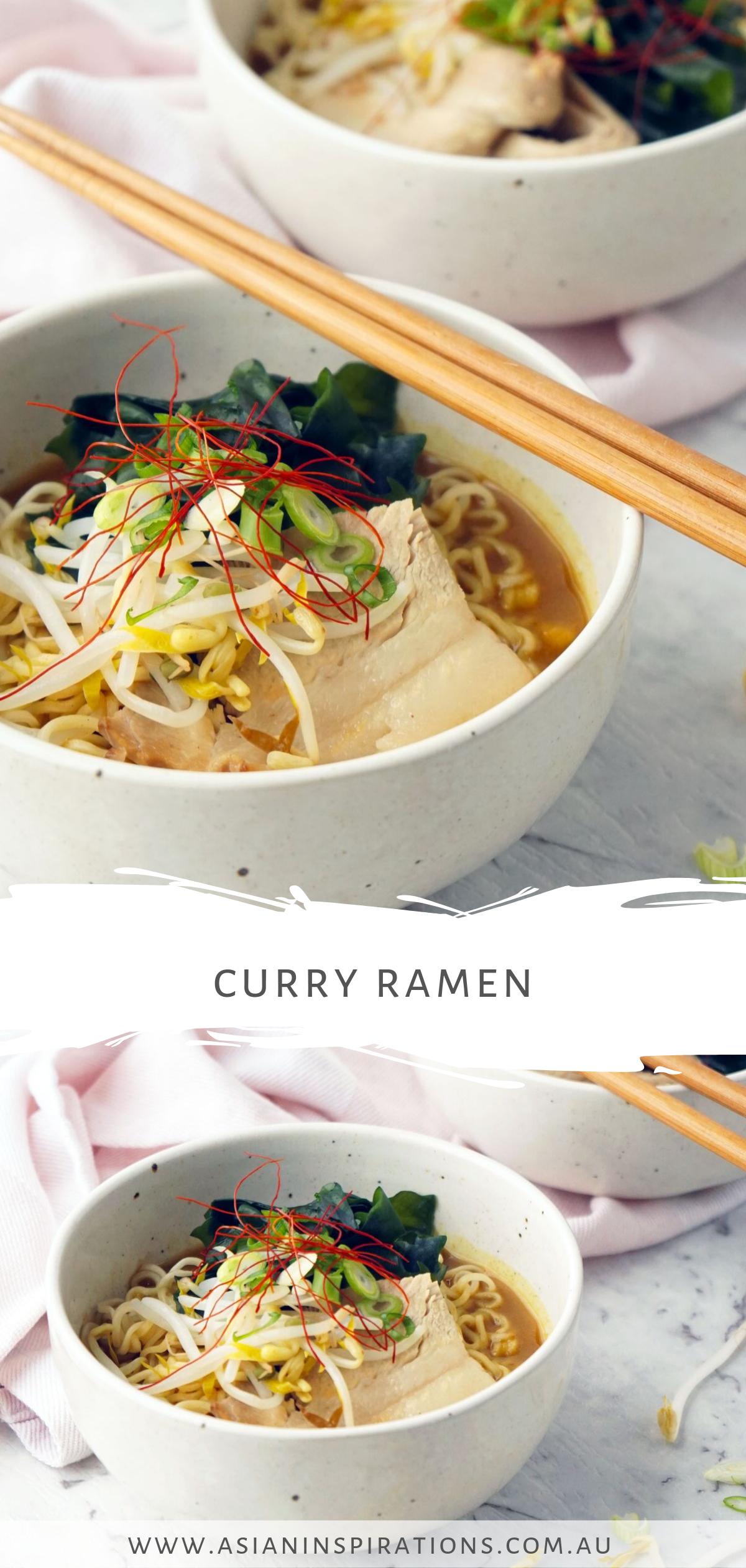 Curry Ramen Recipe Curry Ramen Curry Recipes Food Recipes