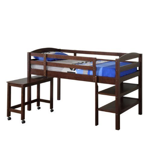 We Furniture Twin Wood Loft Bed With Desk Espresso By We Furniture Http Www Amazon Com Dp B005vmdhr0 Ref Cm Sw Low Loft Beds Loft Bed Bunk Beds With Stairs